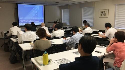 東京商工会議所江戸川支部でのスマホ・タブレット活用セミナーの様子